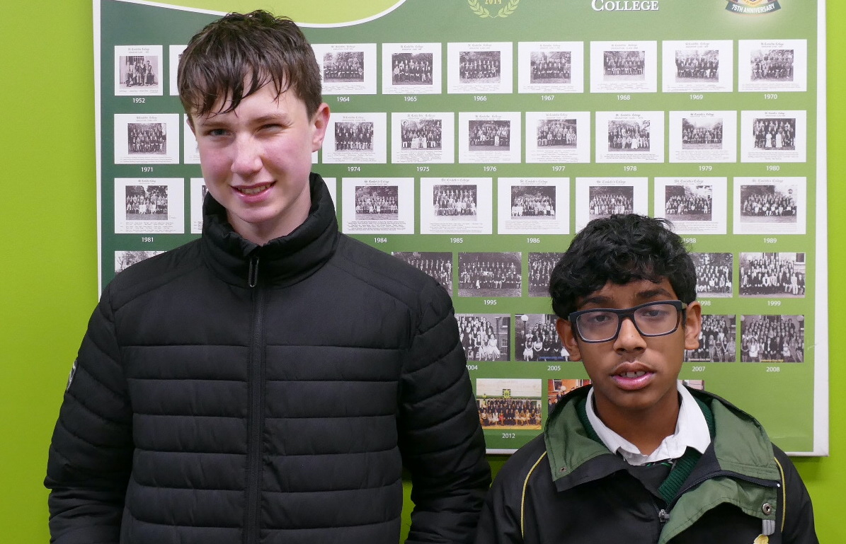 Young Classicists Runners-Uo James Power and Pavan Vellackal