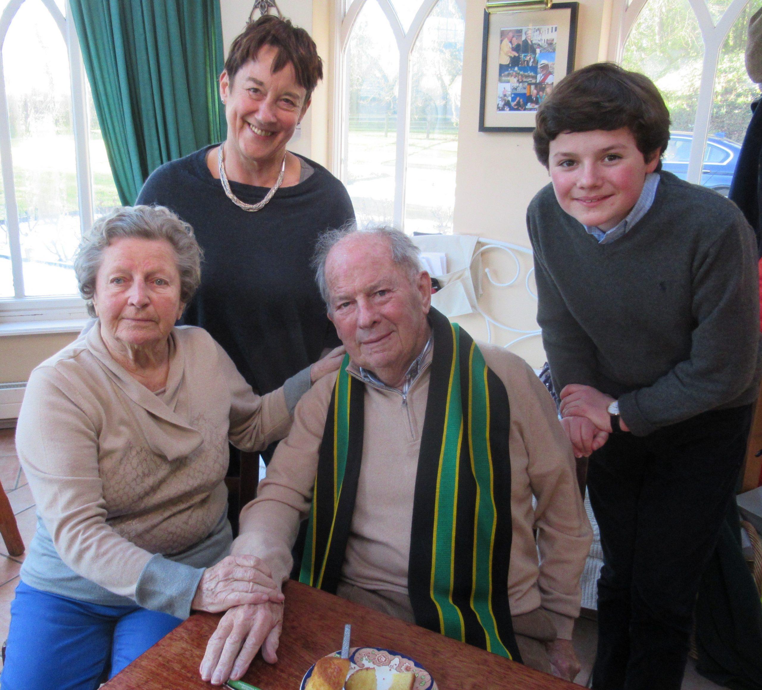 Ann Sheppard joins Basil, Maureen and Daniel Brindley