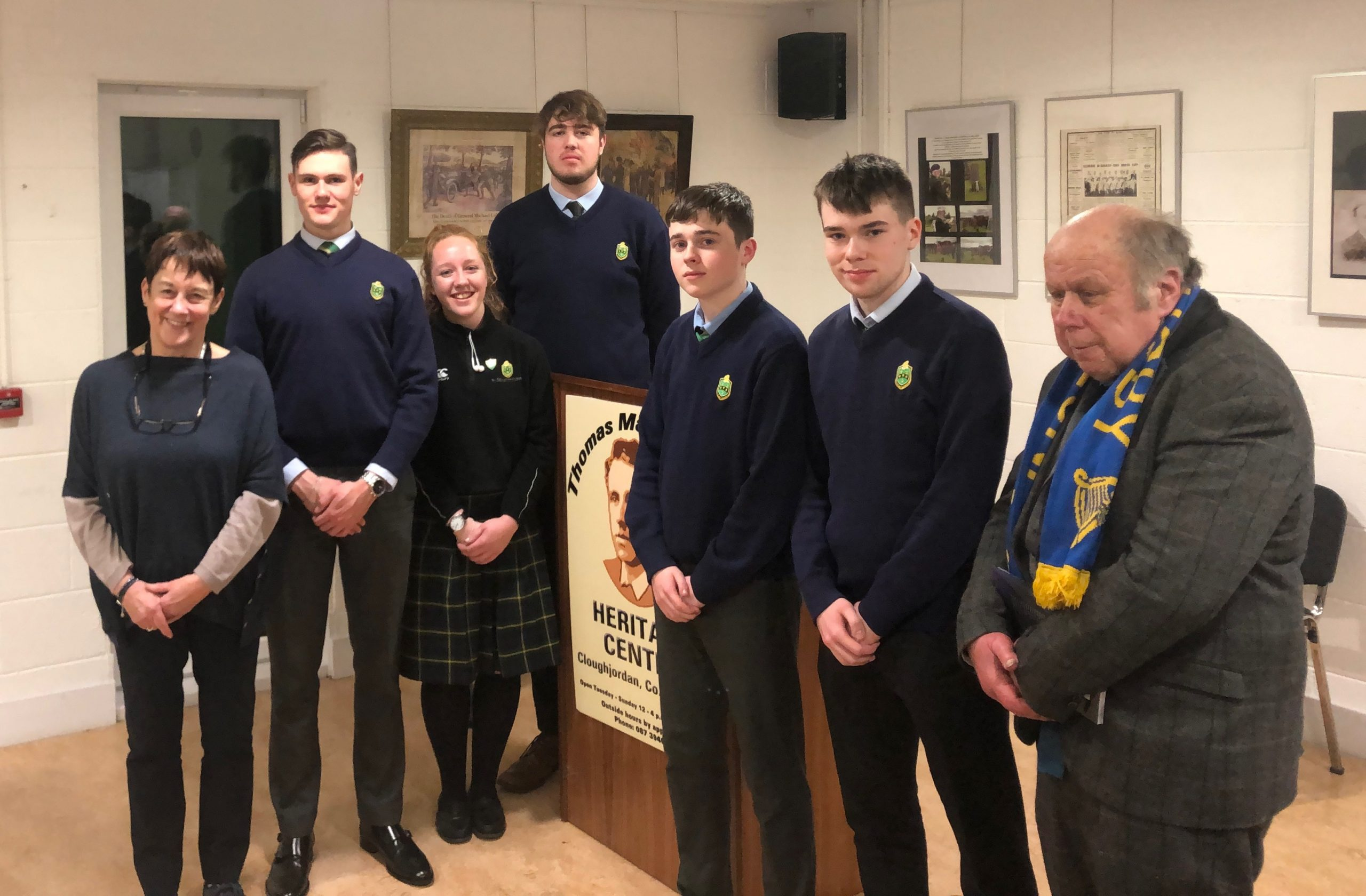 Local Historian Liam Doran is joined by our Ann Sheppard and our History Boys (and girl)