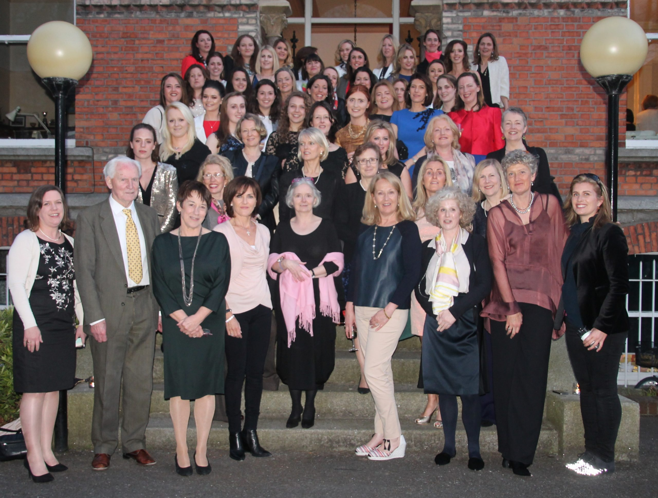 Mr. Kelleher and Ann Sheppard joined by 40 years worth of Conlethian women! (1)