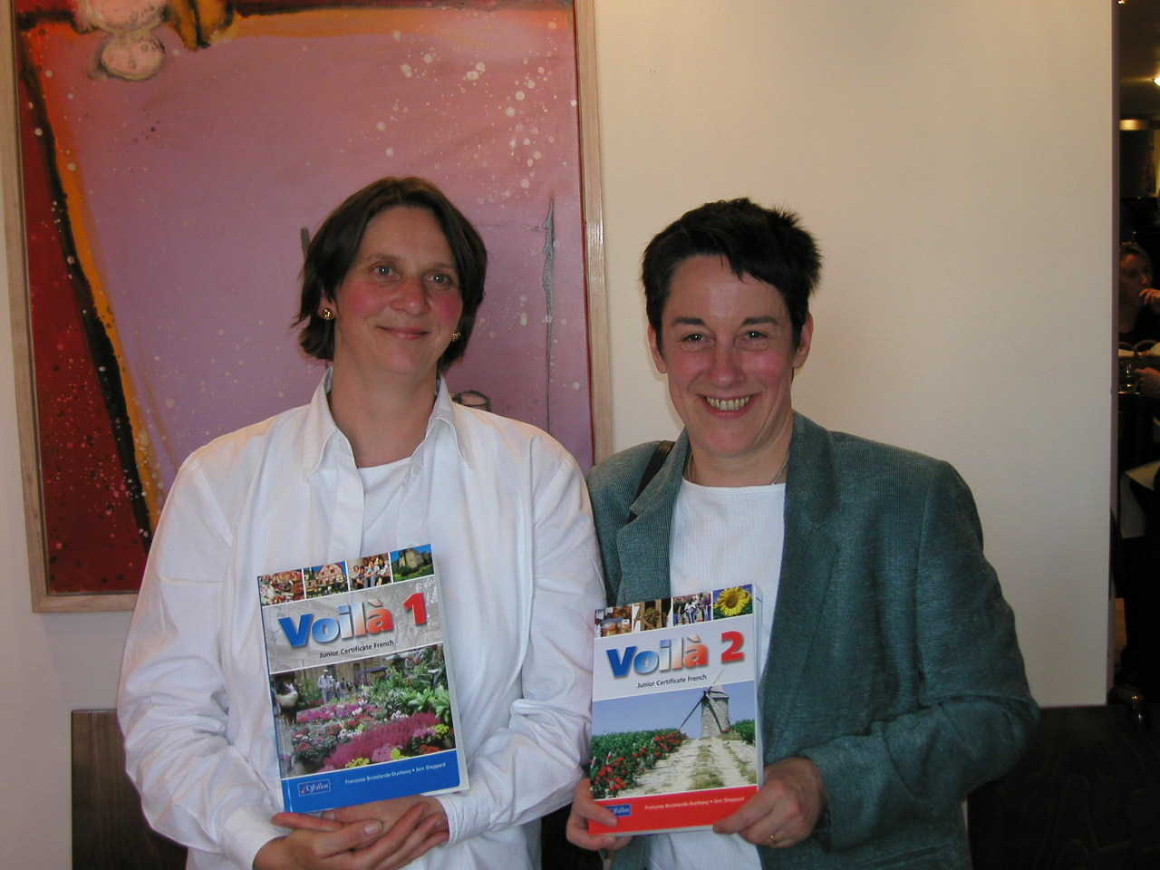 ann francoise on the launch of their book