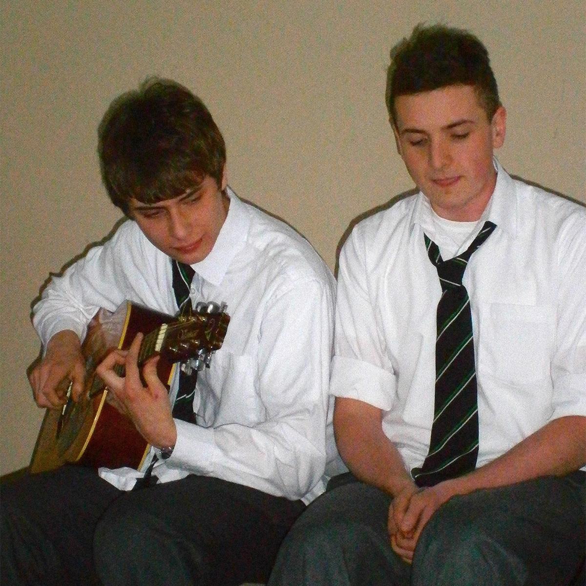Jack singing in Irish with Evan Byrne